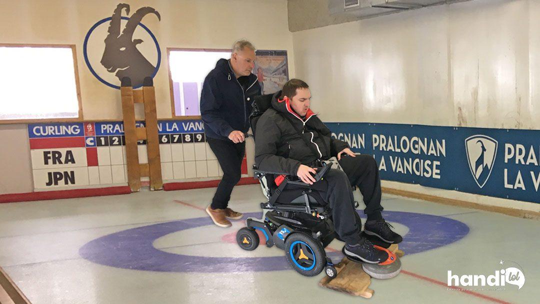 Curling en fauteuil roulant : une activité adaptée PMR insolite !