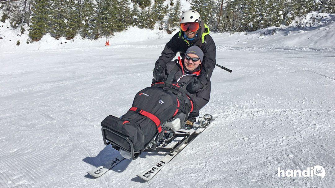 Handiski : première expérience inoubliable en ski fauteuil à Pralognan !
