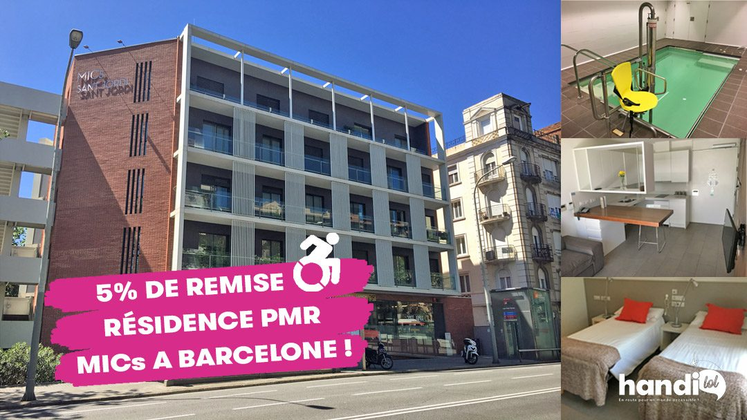 Résidence MICs Sant Jordi : des appartements PMR accessibles à Barcelone