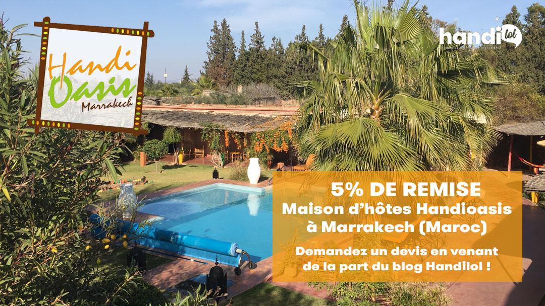 Handioasis, maison d'hôtes accessible PMR aux portes de Marrakech !