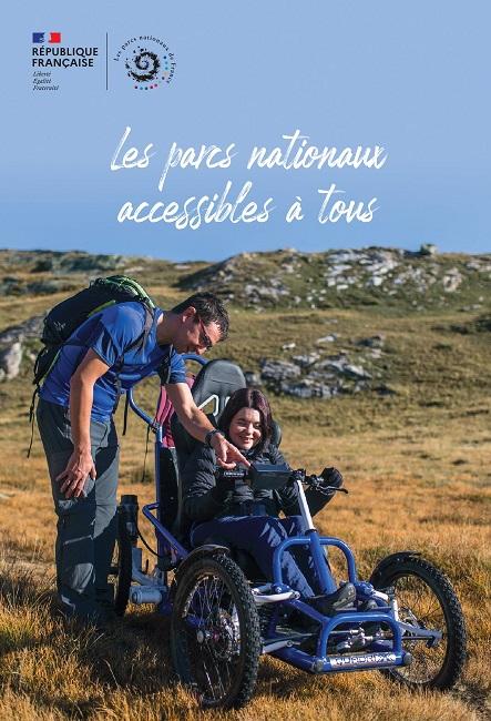 Couverture du guide les parcs nationaux de France accessibles à tous, édition 2021